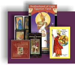 tarot cards and books