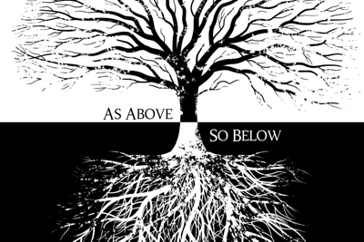Nature teaches: As above, so below