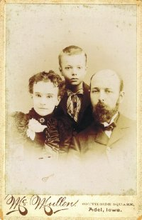 Elbert Benjamine with Mother and Father